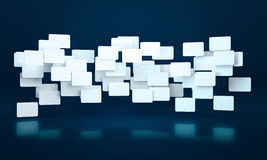 3D rectangle banners. 3D abstract rectangle banners background Royalty Free Stock Photography