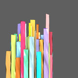 3d rectangular shapes in multiple color. 3d composition with rectangular shapes in multiple color on gray Stock Image