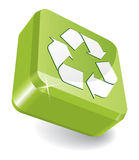 3d recycle icon vector illustration