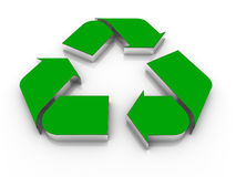 3d recycle icon Royalty Free Stock Photo
