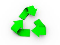 3d recycle logo Stock Photography