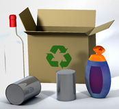 3d Recycle Scene 2 Royalty Free Stock Photos