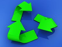 3d recycle sign Royalty Free Stock Photography