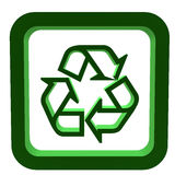 3D Recycle Symbol Stock Image