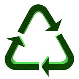 3D Recycle Symbol Royalty Free Stock Photos