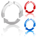 3D recycle symbol Royalty Free Stock Photography