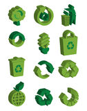 3d recycle symbols Royalty Free Stock Images