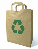 3d Recycled Shopping Bag Royalty Free Stock Images