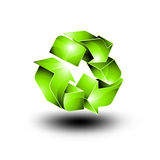 3D Recycling Icon - Glossy Vector Design Royalty Free Stock Images