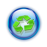 3d recycling logo. Modern three-dimensional recycling logo isolated on white royalty free illustration