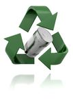 3D Recycling sign. 3D Recycling symbol isolated over a white background Stock Image