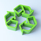 3D recycling symbol Royalty Free Stock Photography