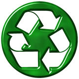 3D Recycling Symbol Stock Photo