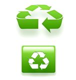 3D recycling symbols Royalty Free Stock Photos