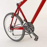 3d red bicycle. Royalty Free Stock Photos