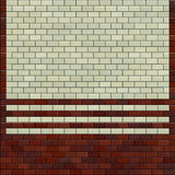 3d red brown ivory white tiled wall Stock Images