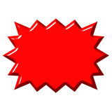 3D Red Burst Royalty Free Stock Photo