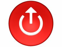 3d red button Royalty Free Stock Images