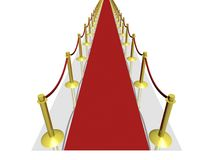 3D red carpet Royalty Free Stock Photography