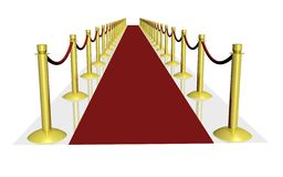3D red carpet. A 3d red carpet rendering Royalty Free Stock Photo