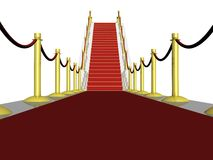 3D red carpet Stock Images