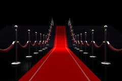 3d red carpet illustration Stock Photos