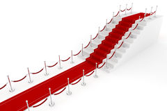 3d red carpet illustration Royalty Free Stock Photo