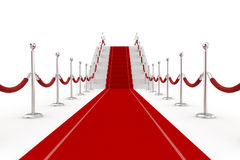 3d red carpet illustration Royalty Free Stock Image