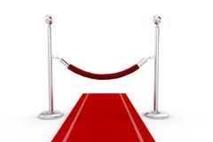 3d red carpet illustration Royalty Free Stock Photos