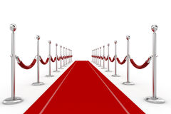 3d red carpet illustration Royalty Free Stock Photography