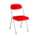 3D red chair Royalty Free Stock Images