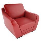 3D red chair on a white background. High resolution 3D render red chair on a white background Royalty Free Stock Images