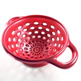 3D red colander Royalty Free Stock Photography