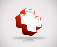 3d red cross Royalty Free Stock Images