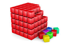 3d  red cubes Royalty Free Stock Images