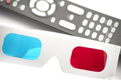 3D red and cyan glasses Royalty Free Stock Photos