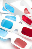 3D red and cyan glasses Stock Photo