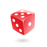 3d red dice Royalty Free Stock Photos