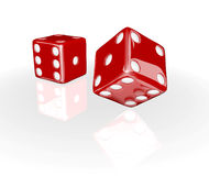 3D Red Dice Stock Photography