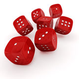 3d red dice Stock Image