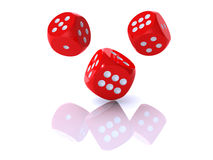 3D red dices Stock Photography