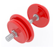 3d red Dumbbell Royalty Free Stock Photos