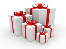 3d red gift box christmas Royalty Free Stock Photo
