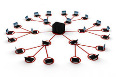 3d red global, concepto, en blanco Foto de archivo libre de regalías