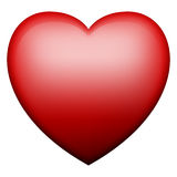 3d Red Glowing Heart Stock Photography