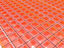 3D Red Grid Royalty Free Stock Photography