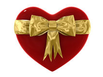 3d Red Heart gift isolated Royalty Free Stock Images
