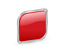 3d red icon with contour Royalty Free Stock Photo