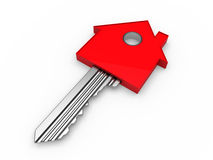3d red key Stock Photo