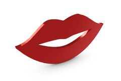 3D red lips Royalty Free Stock Image